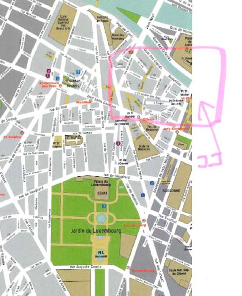 ピカソがゲルニカを仕上げたアトリエの地図