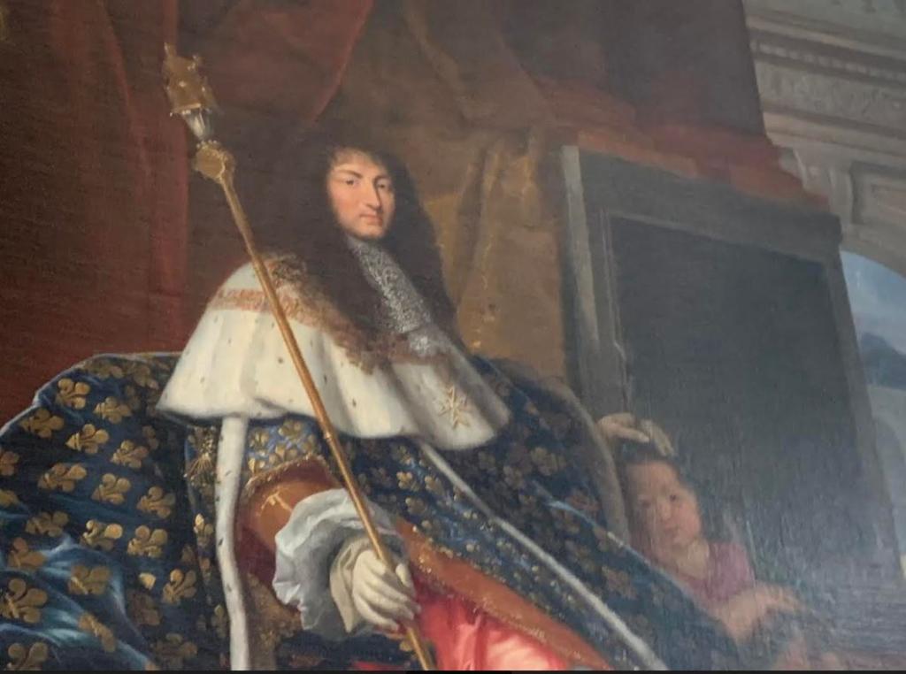 ベルサイユ宮殿内に展示されている絵画