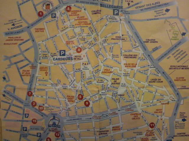 エクサンプロヴァンス旧市街図