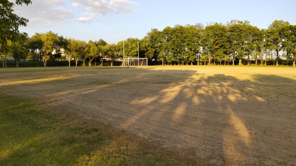 前田森林公園の球技場