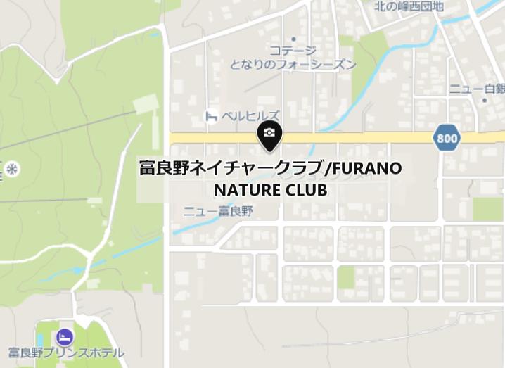 富良野ネイチャークラブの地図