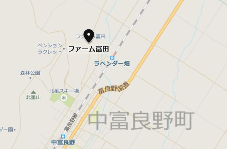ファーム富田の地図