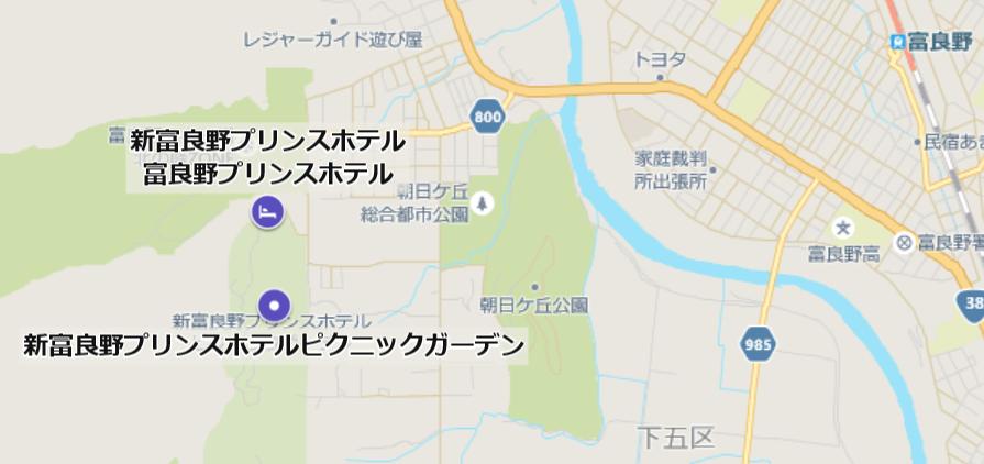 ニングルテラスの地図