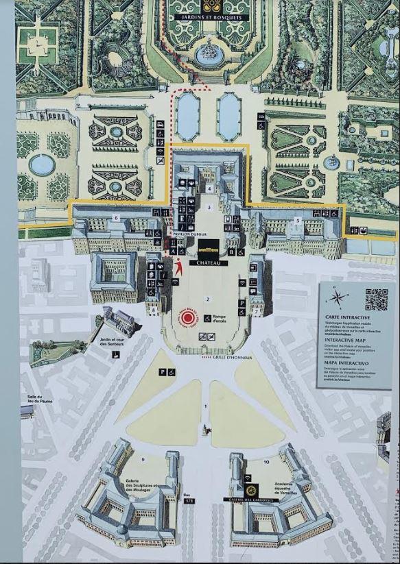 ベルサイユ宮殿の庭園の地図