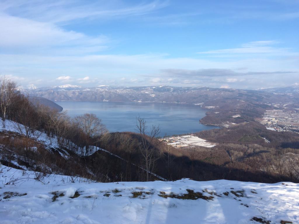 有珠山から見る景色