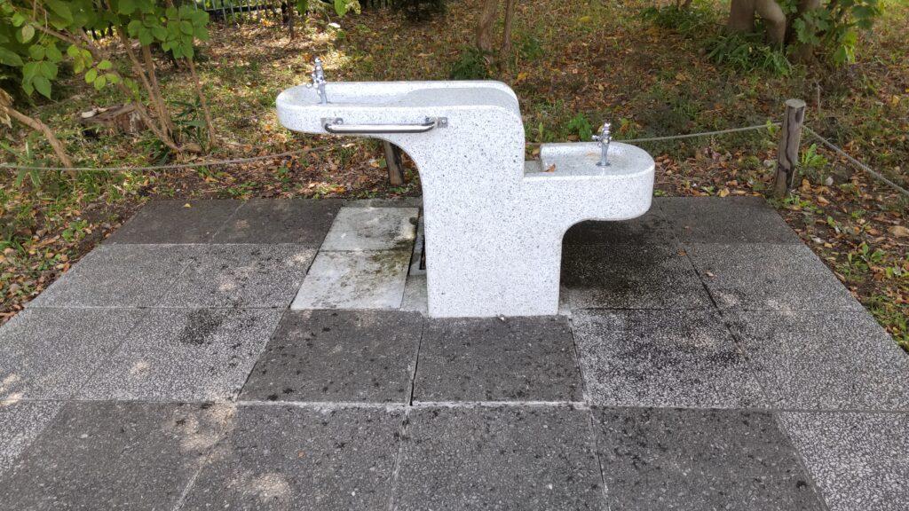 百合が原公園の水飲み場
