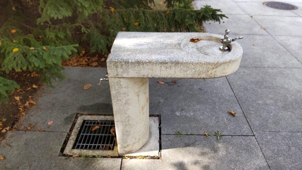 モエレ沼公園の水飲み場