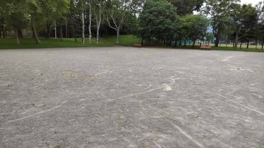 前田公園の砂の広場