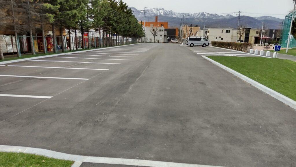 前田公園の駐車場