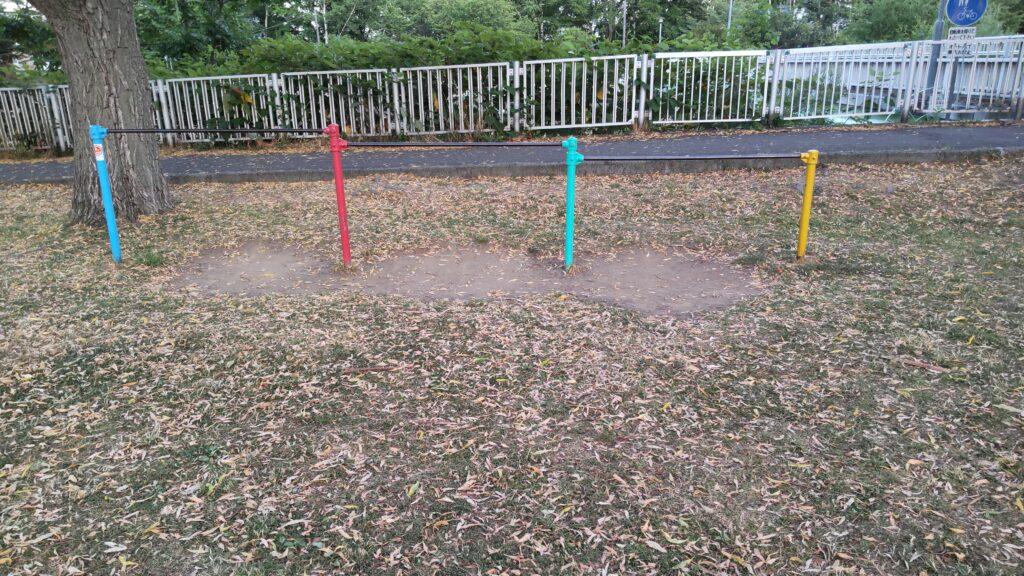 発寒河畔公園の鉄棒