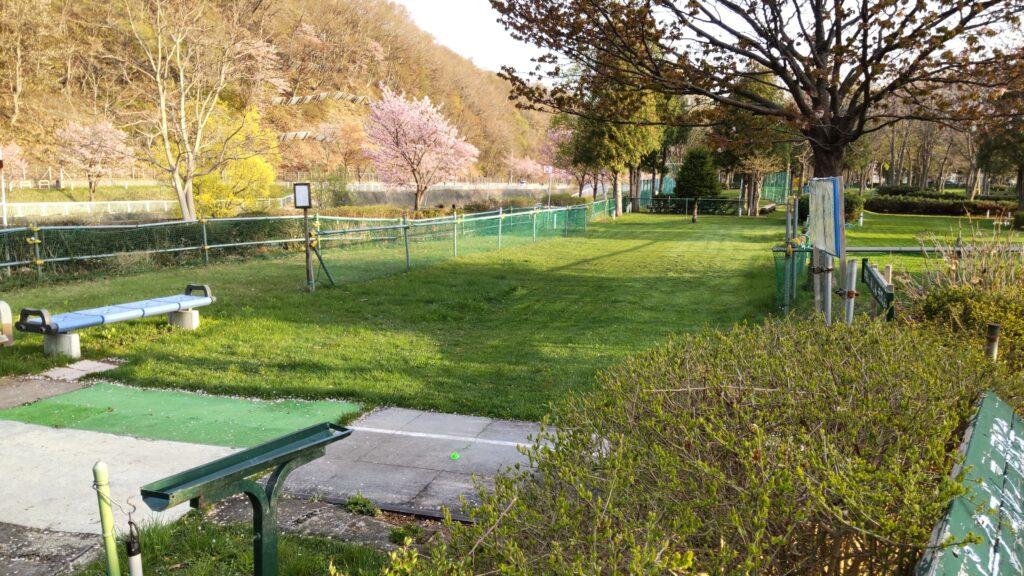 発寒川緑地のパークゴルフ場