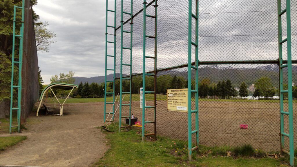 星置公園の野球場