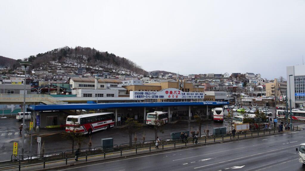 小樽駅前バスターミナルの中央バスのりば