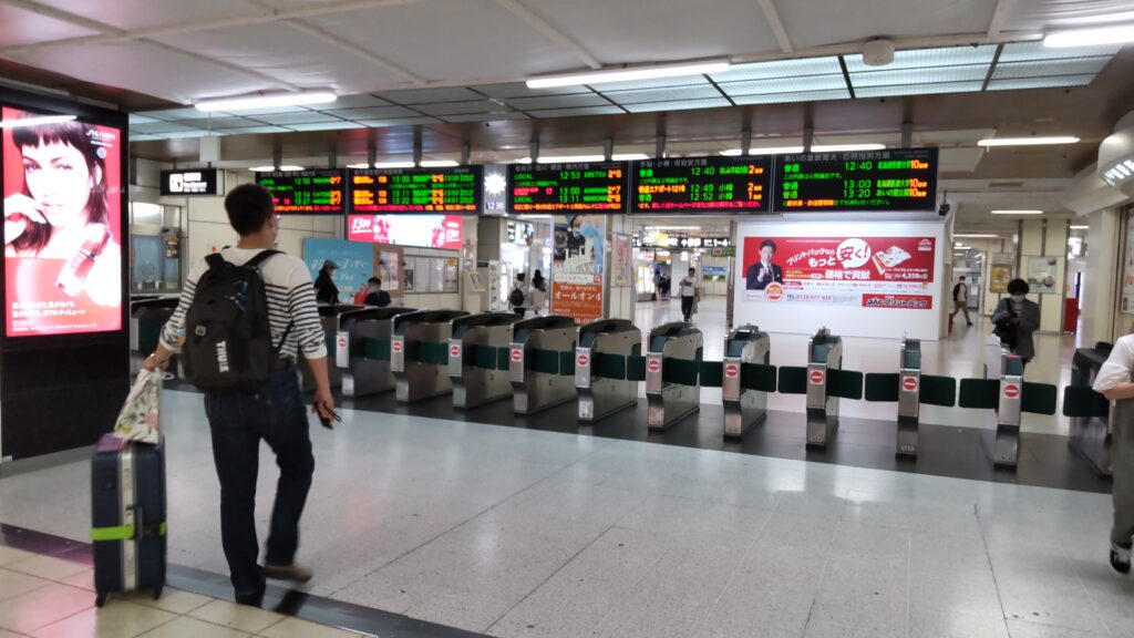 JR札幌駅の西改札口